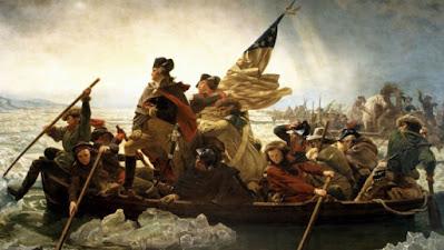 Washington Crossing the Delaware painting.