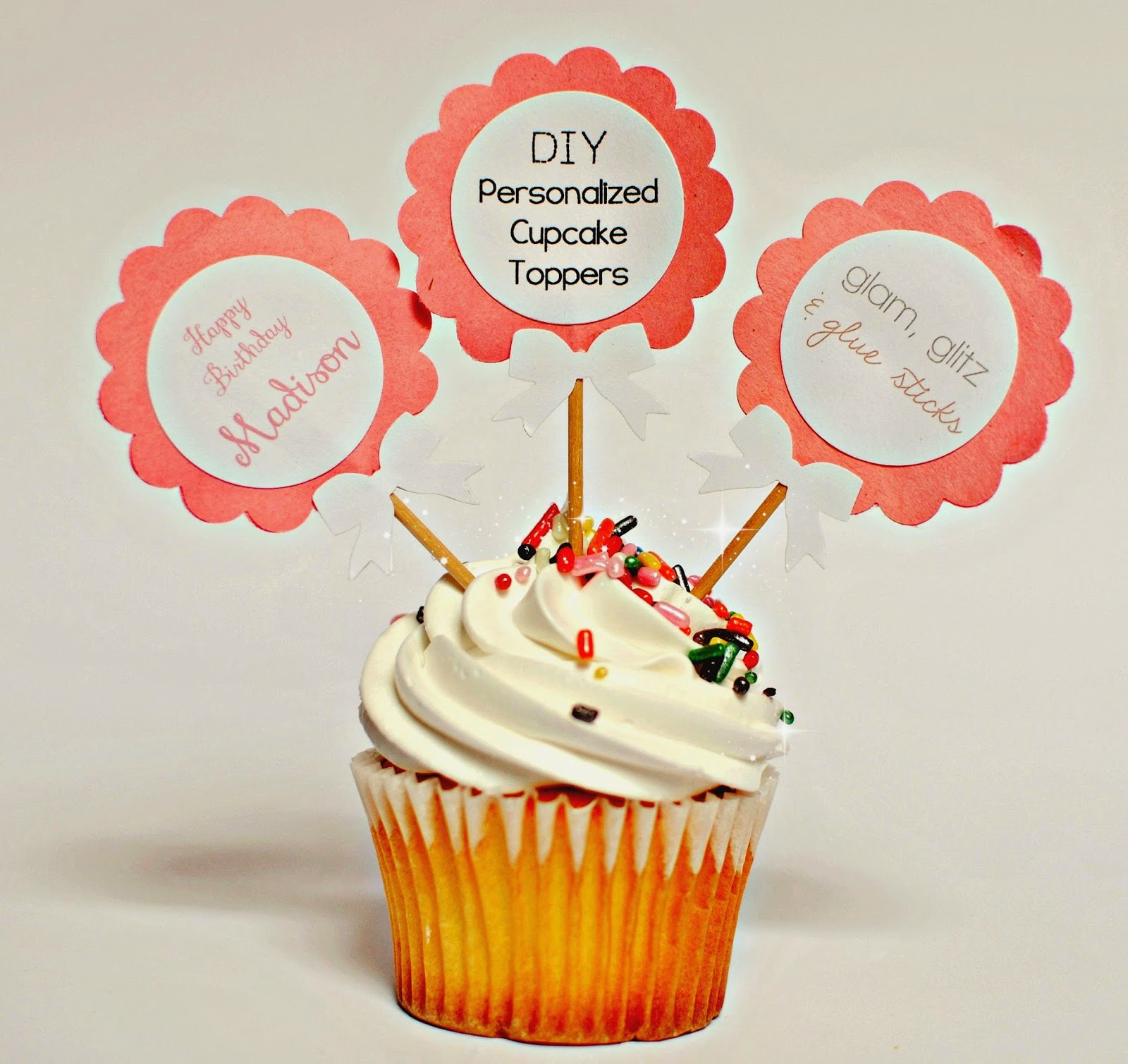 Glam, Glitz, and Glue sticks: DIY Cupcake Toppers: Part 2 ...
