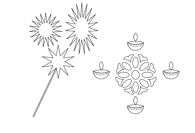 Happy Diwali Printable Coloring Pages