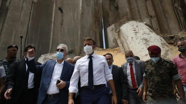 Los franceses reprochan visita injerencista de Macron a El Líbano