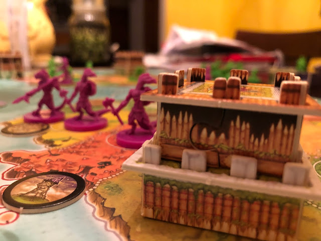 Heroes of Land, Air & Sea Gamelyn Games Order and Chaos Expansion Lizardfolk Gameplay; Photo by Benjamin Kocher