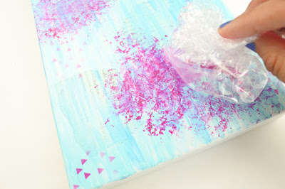 Decorate a Photo Box - Mixed Media Style for StencilGirl by @thediyday