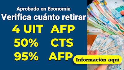 Comisión de Economía aprobó el retiro de 4 UIT de las AFP y el 50% de la CTS