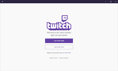 Log in to Twitch