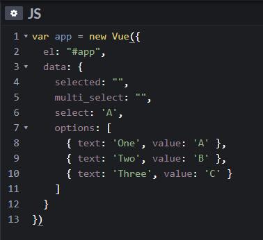 Tutorial Vue Js - Cara Membuat Value Binding pada Select Option