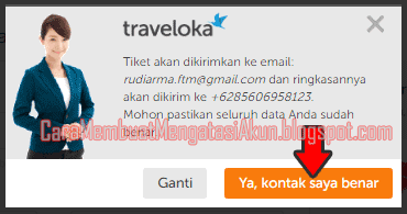 cek kode booking lion air traveloka