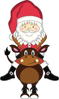 Santa and his Helpers Clip Art.