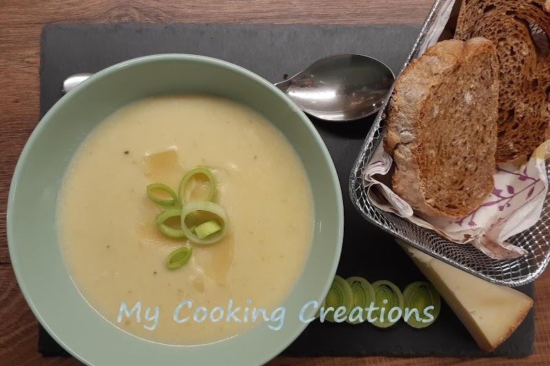 Крем супа от праз и картофи по френски * Zuppa di patate e porri alla Parmentier