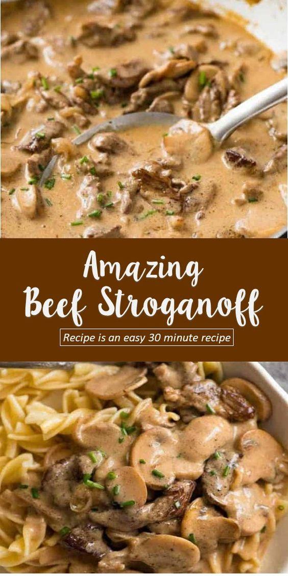 Easy and Amazing Beef Stroganoff