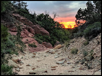 Sunset Coming out of Red Canyon
