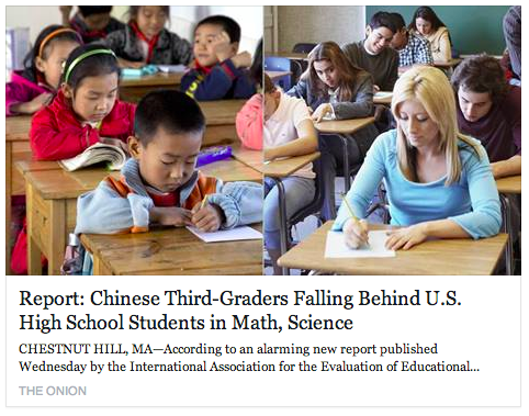 (Humor) Report: Chinese Third-Graders Falling Behind U.S. High School Students in Math, Science | The Onion - America's Finest News Source