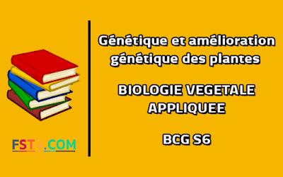 Cours Génétique et amélioration génétique des plantes bcg s6 pdf