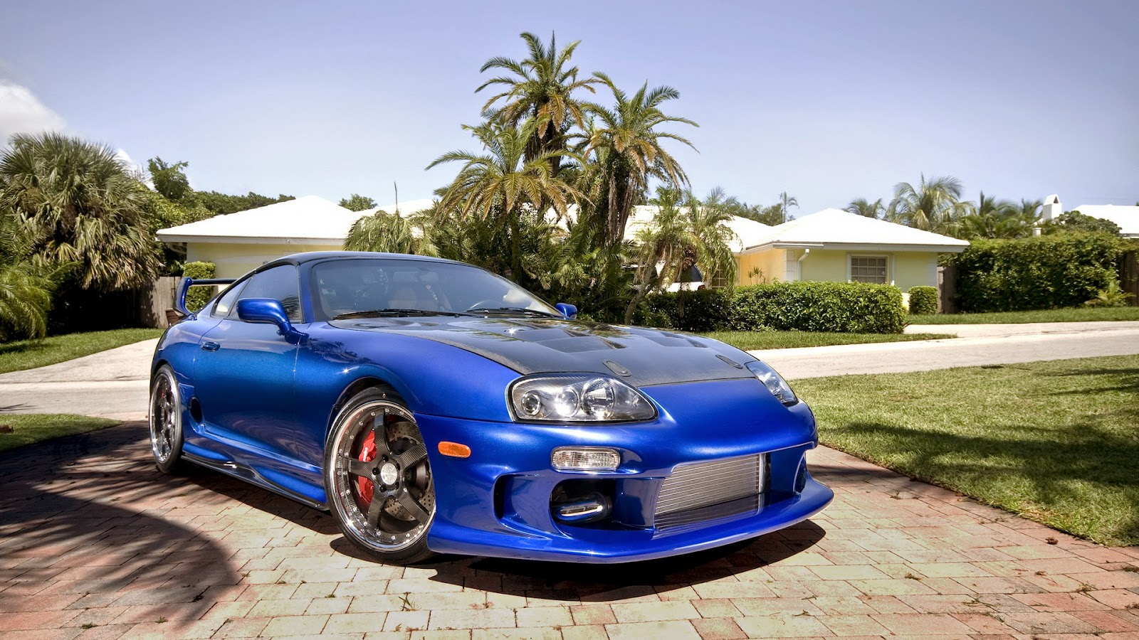 Toyota Supra Blue Custom Wallpaper Free Hd Wallpaper And