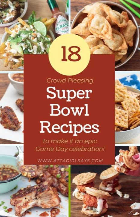 collection of traditional game day Super Bowl recipes