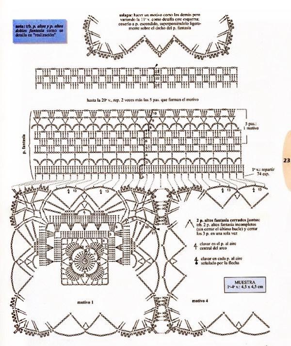 Top crochet motivos colgados patron