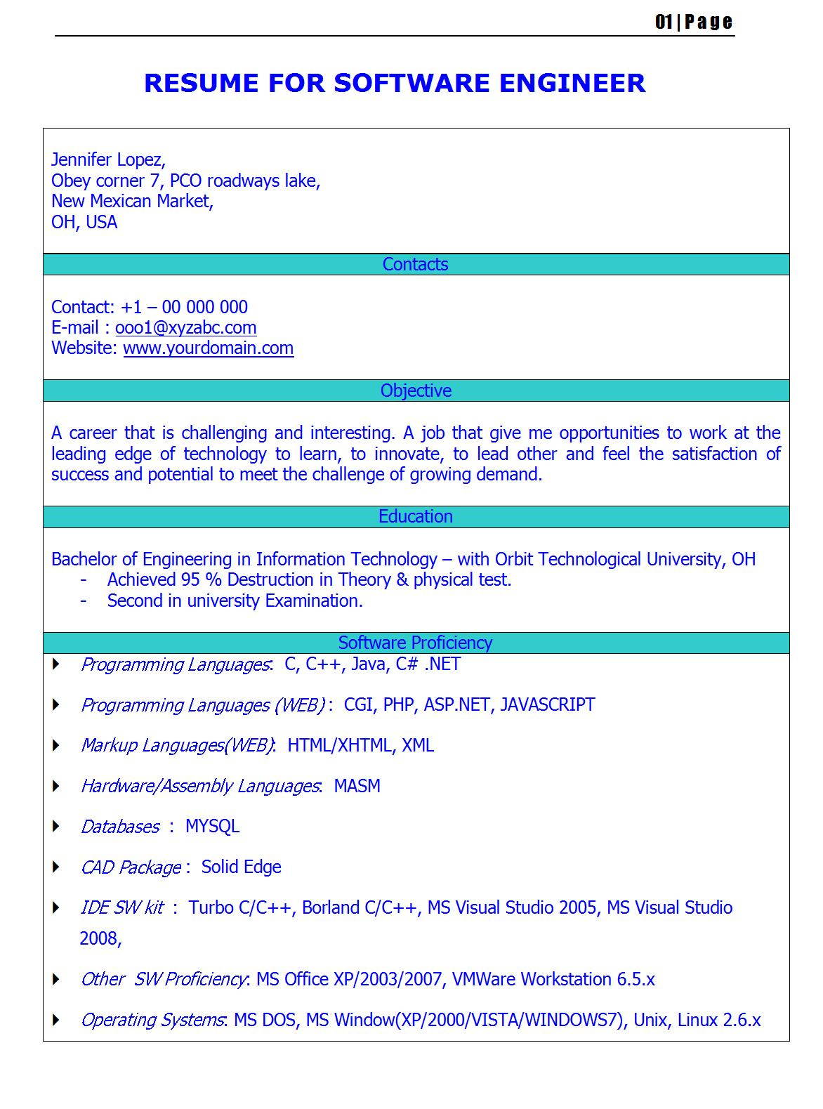 fresh jobs and samples for jobs cv for