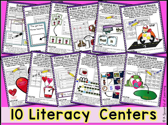 February Centers - 10 Literacy Center 1