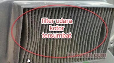Filter Udara Motor Matic  Kotor