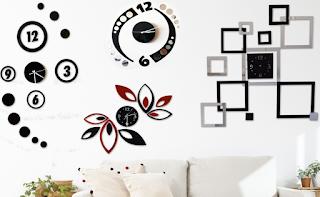 Jam dinding ruang tamu minimalis modern
