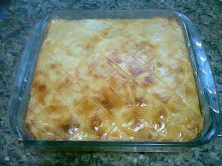 Torta de massa de pastel