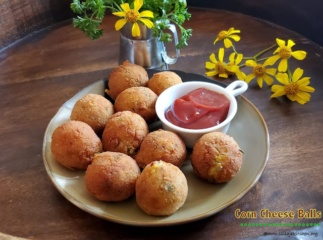 images of Corn Cheese Balls / Crispy Corn Cheese Balls / An Easy Appetizer