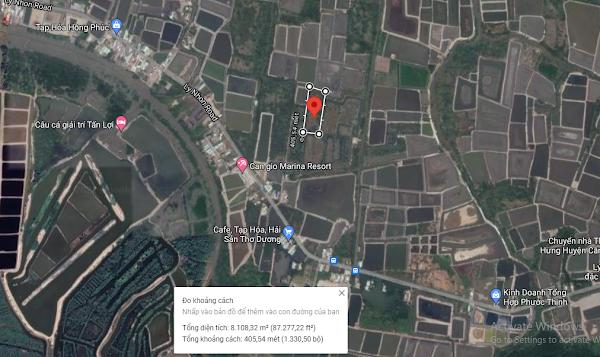 Bán 6839m2 đất nông nghiệp đường Lý Nhơn, xã An Thới Đông
