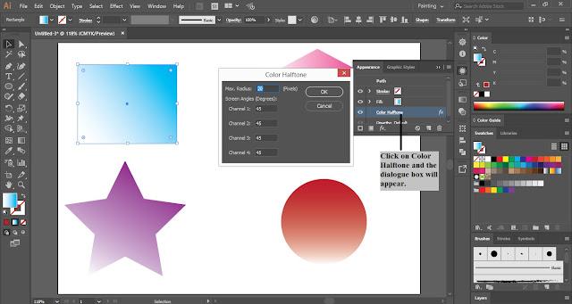 Half Tone Effect in Adobe Illustrator