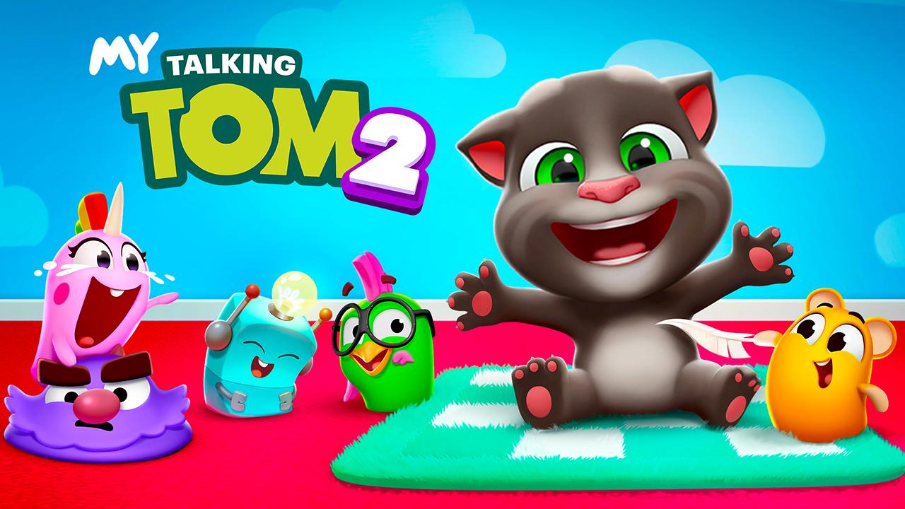 Cuida a un adorable gatito en este juego móvil gratuito.  My Talking Tom 2 es un juego de simulación de mascotas gratuito que permite a los jugadores adoptar a un simpático gatito y ocuparse de sus necesidades.  El gatito predeterminado del juego es un joven Talking Tom, la estrella de la franquicia Talking Tom and Friends, que comenzó con la primera aplicación, Talking Tom Cat, allá por 2010 (hace toda una vida en los años móviles). Sin embargo, los jugadores pueden cambiar el nombre de ese gato e incluso cambiar su apariencia, dándole ojos y / o pelaje de diferentes colores. Los jugadores también pueden vestir al gatito con una variedad de prendas y accesorios. Técnicamente, esto les permite elegir el género del gato, pero pueden cambiar de opinión más adelante.  Los jugadores deben ocuparse de las necesidades básicas del gatito jugando con él, alimentándolo, bañándolo, dándole medicamentos, asegurándose de que duerma lo suficiente, etc. Cuando no están jugando con el gato, los usuarios también pueden probar una variedad de minijuegos en varios géneros, como Match-Three y arcade.  A medida que los jugadores interactúan con el gatito y juegan minijuegos, ganarán puntos que encenderán un avión. Cuando el avión está listo para despegar, los usuarios pueden volar a un lugar exótico para abrir una caja misteriosa llena de golosinas como ropa y accesorios para el gato, comida y monedas.  Las monedas se pueden gastar en comida, ropa y accesorios para el gatito, así como en nuevas decoraciones y fondos para las áreas de juego del juego (cocina, baño, etc.). Algunos de los elementos del juego cuestan moneda premium, que se puede ganar con el tiempo o comprar al instante con dinero real.  Finalmente, al igual que con algunos otros juegos de la franquicia Talking Tom, los jugadores pueden dar acceso al juego al micrófono de su dispositivo, lo que les permite hablar con su gatito (o hacer otros ruidos) y escucharlo repetir sus palabras / ruidos con voz chillona. .  My Talking