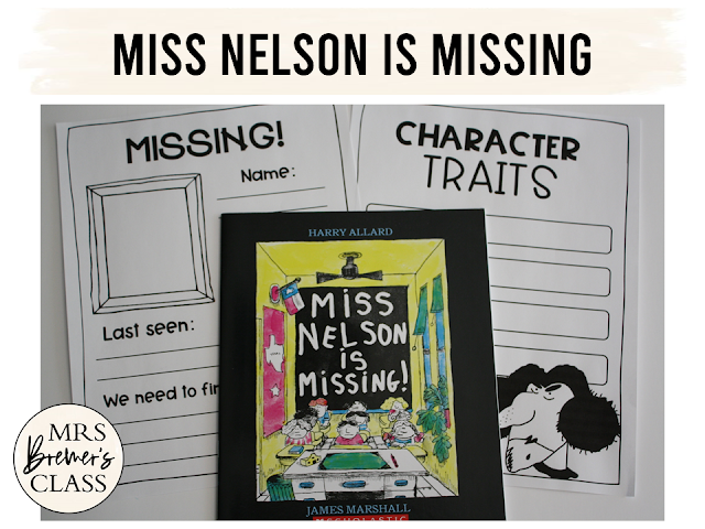 Miss Nelson is Missing is a fun book to read at any time, but especially when you know your class will be getting a sub for the day. This literacy companion unit is packed with engaging and standards based activities, and includes a book study and a class book that's sure to be a favorite in your classroom library. K-2 #missnelsonismissing #backtoschool #bookstudy #firstgrade #1stgrade #2ndgrade #secondgrade