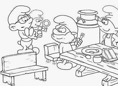 Funky black and white vintage TV comic strip Smurf free pictures to color cake drawings of teenagers