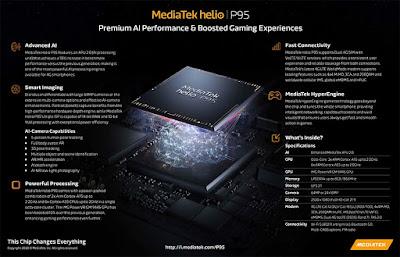 ميديا تك Mediatek تُعلن عن معالج جديد Helio P95 مع ذكاء اصطناعي مُحسن ودعم أفضل للكاميرا