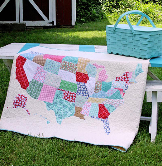 U.S. Map Quilt Free Pattern