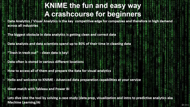KNIME - a crash course for beginners