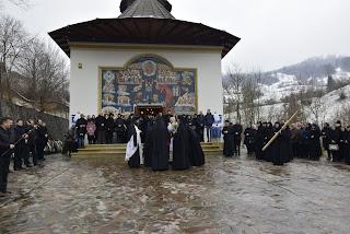 Inmormantarea Maicii Stavrofore Ecaterina Ghiran, Stareta Manastirii Cormaia, Sangeorz, Bistrita-Nasaud