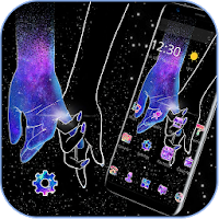Galaxy Hand in Hand Romantic Love Theme Apk free Download for Android
