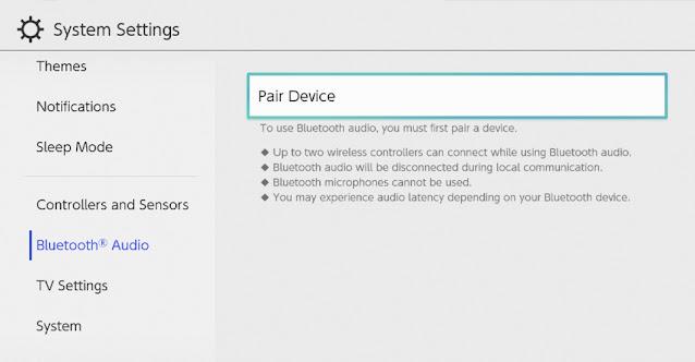 Nintendo Switch recebe suporte a áudio Bluetooth em nova atualização de sistema (versão 13.0.0)