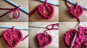 Cómo tejer un corazón al crochet en 5 minutos