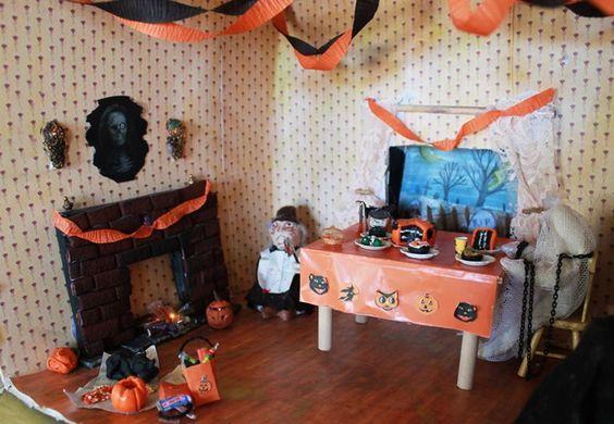 diy miniature halloween dollhouse