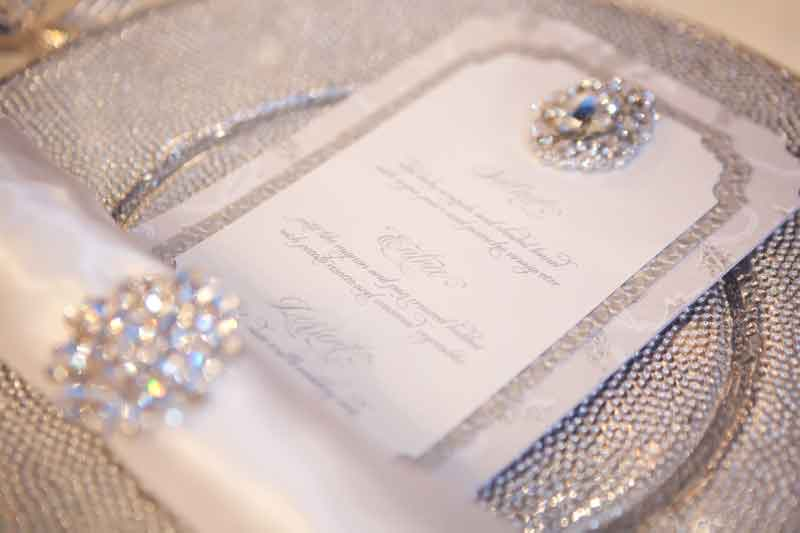 Bling Wedding Invitations: Decorating A Modern Home: Menu Cards