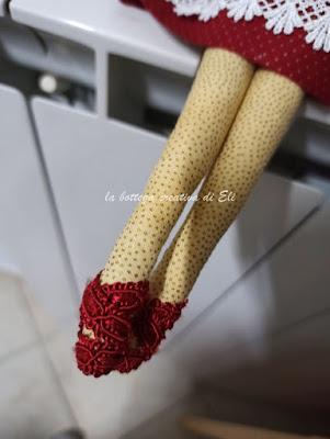 come realizzare scarpette angelo tilda