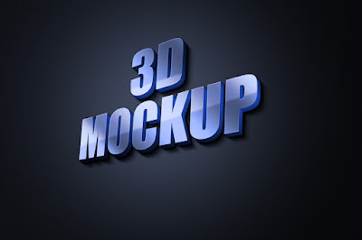 3D-Glow-Logo-MockUp free download 2021