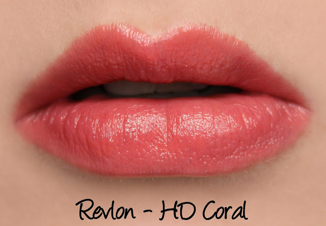 Revlon Ultra HD Gel Lipcolor - HD Coral Swatches & Review