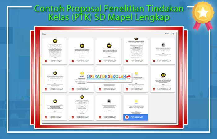 Proposal Ptk Sd Gallery Proposal Template Design