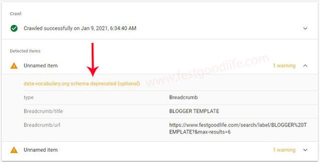 fix breadcrum error in blogger template