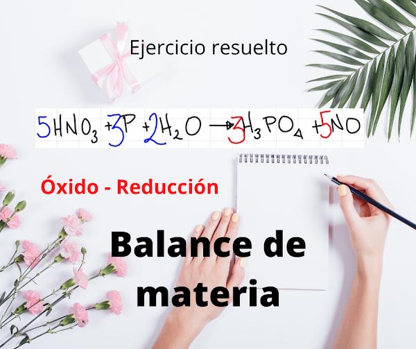 Método REDOX: HNO3 + P + H2O -> H2PO4 + NO [Solución]