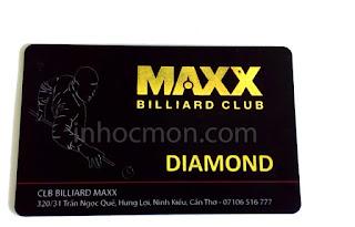 thẻ khách hàng thân thiết câu lạc bộ bi da