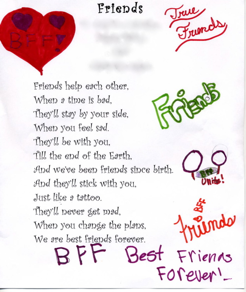 your my best friend forever poems - photo #18
