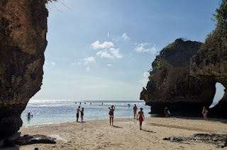 Suluban Beach o Blue Point Beach. Isla de Bali, Indonesia.