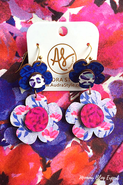 Audra Style Handmade Flower Art Wood Earrings