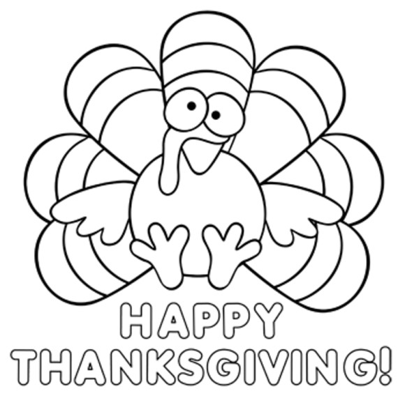 happy thanksgiving cartoon coloring pages - photo#19